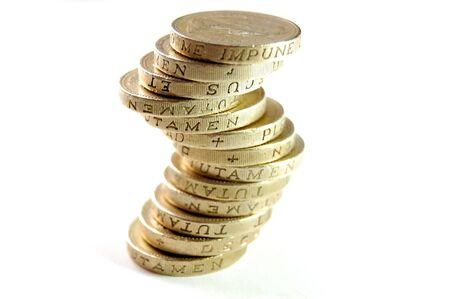 libra esterlina: Monedas de la libra esterlina de una excelente