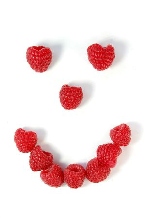 Raspberry smiley face Stock Photo - 5965029