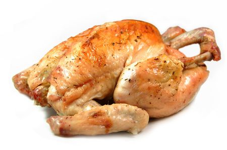 seasoned: Roasted chicken Stock Photo