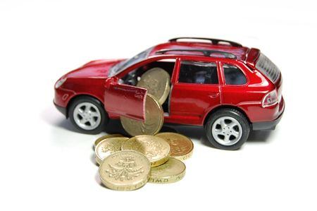insure: Car finance Stock Photo
