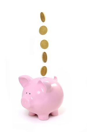 cuenta bancaria: Hucha  Foto de archivo