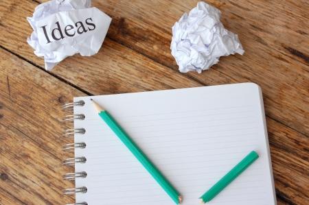 block note: Writers block