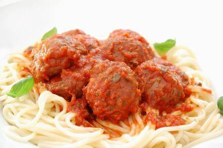spaghetti dinner: Spaghetti and meatballs