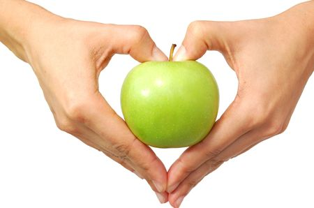 shaped: Healthy food healthy heart concept