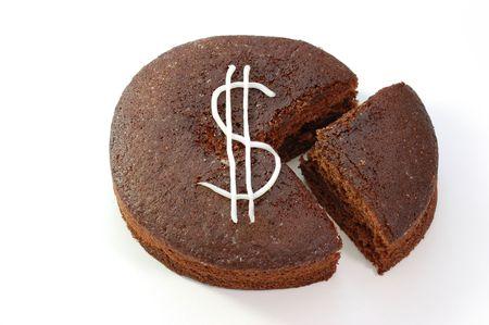 Dollar cake photo