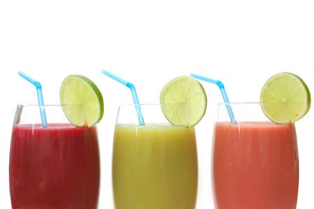 Selection of different juices  Stock Photo