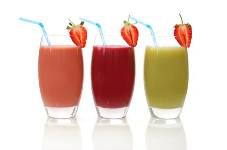 batidos de frutas: Aseg� diferentes frutas de sabor