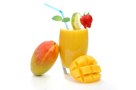 fruit smoothie: Mango juice