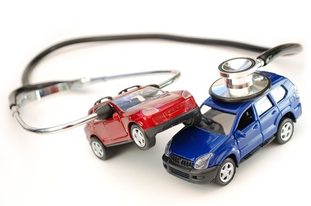 Stethoscope on a toy car