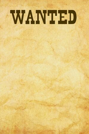 old poster: Wanted poster Stock Photo