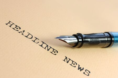 News Headlines Stock Photo - 7477173