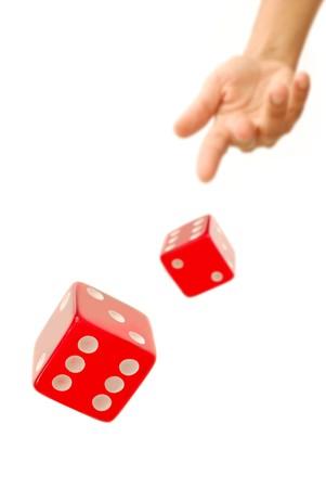 Throwing dice Stock Photo - 7880051