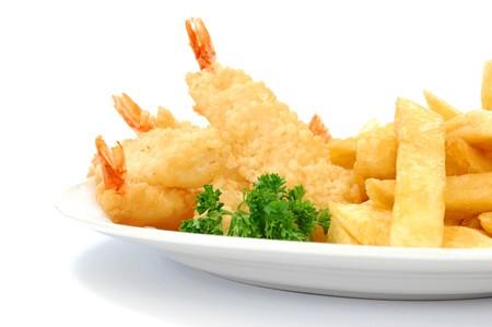 deep fry: Tiger prawns