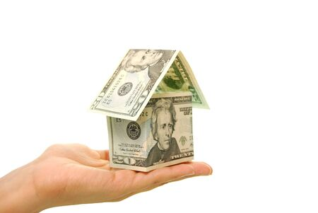 investment real state: Casa de dinero Foto de archivo