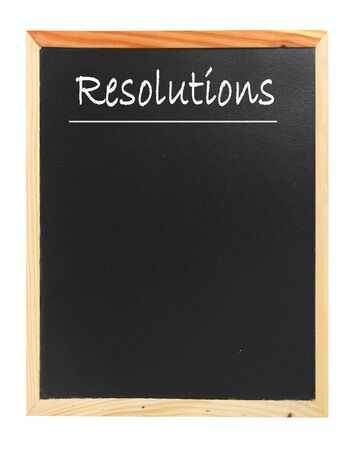 new years resolution: Resolutions  Stock Photo