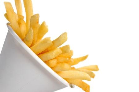 papas fritas: Patatas fritas  Foto de archivo