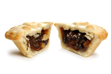 minced pie: Mince pie  Stock Photo