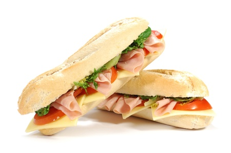ham sandwich: Sub sandwich  Stock Photo