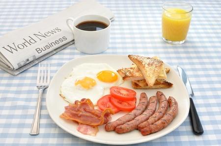 Desayuno cocido  Foto de archivo
