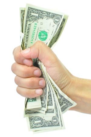 squeeze: Cash squeeze Stock Photo