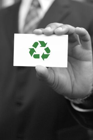 Recycle symbol photo