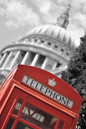 Red telephone box  Stock Photo - 10130739