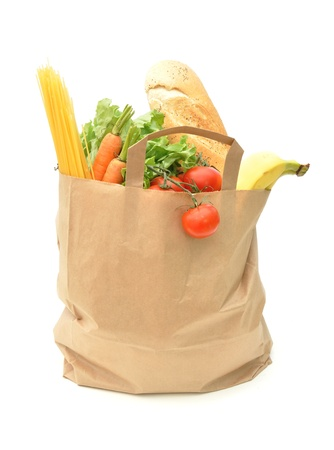 bagged: Grocery shopping  Stock Photo