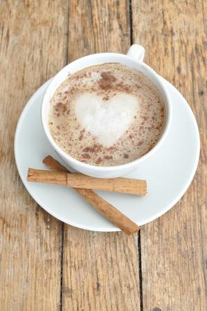 chocolate caliente: Café de corazón