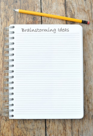Brainstorming list of ideas Stock Photo - 10762047