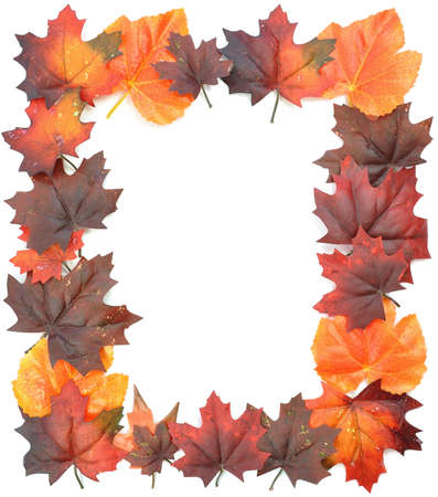 seaonal: Autumn leaves frame
