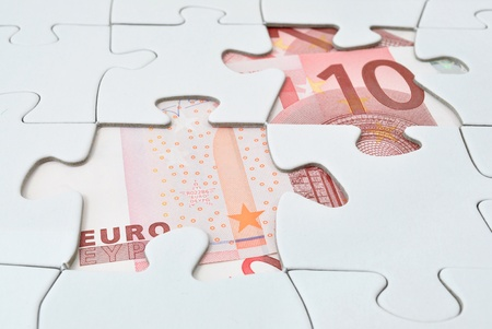 business dilemma: Euro jigsaw puzzle