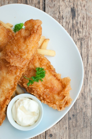 hake: Fish and chips