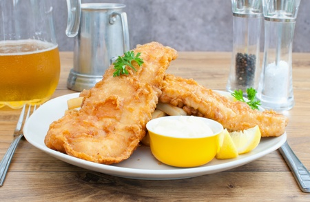 fried fish: Fish and chips Stock Photo