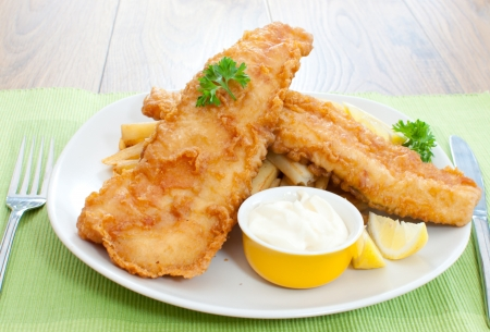 deep fried: Fish and chips