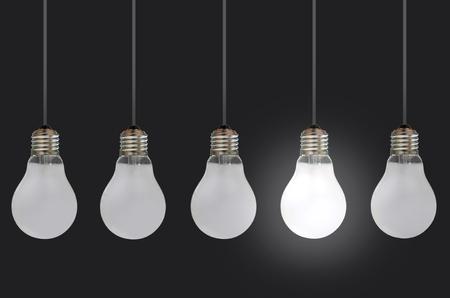 original idea: Light bulbs  Stock Photo