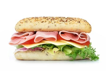 jamon y queso: Sándwich submarino Foto de archivo