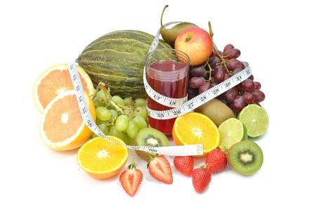 Fruit juice diet  Stock Photo