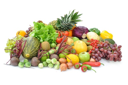 detox: Fruits and vegetables  Stock Photo
