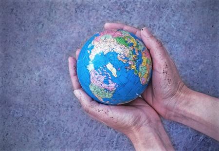 earthy: World in hands