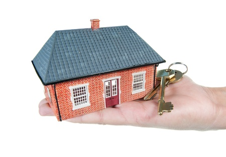 House and keys in a hand Stock Photo - 11622664