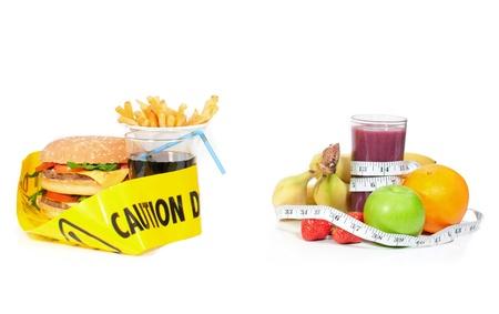 Unheatlhy or healthy food choice