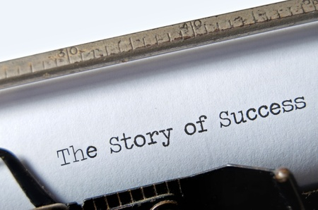 The Story of Success on an old typewriter Stock Photo