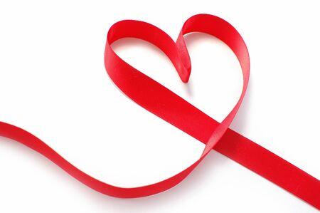 Ribbon heart  photo
