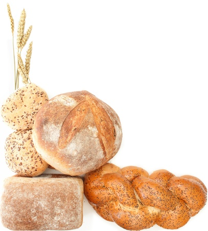 Bread border with space for text  Stock Photo
