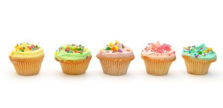 Cupcakes en blanco Foto de archivo - 12796906