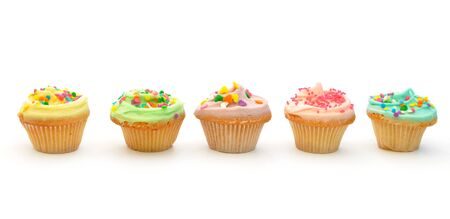 cupcakes isolated: Cupcakes on white