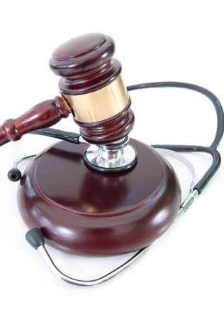 Gavel and stethoscope  photo