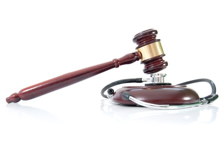 Stethoscope and gavel  photo