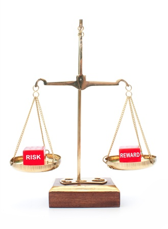 weighing scale: Risk vs reward