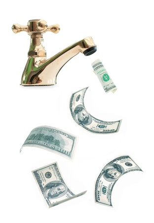 Money tap Stock Photo - 13717545